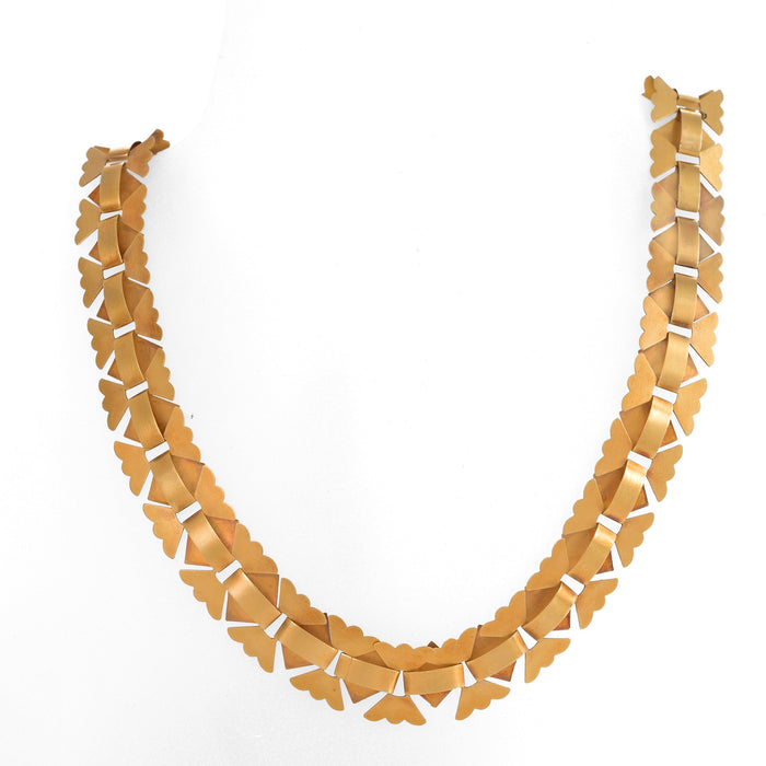 "Gold ""Book Chain"" Necklace"
