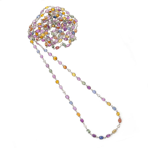 Macklowe Gallery Multi-Color Sapphire Long Chain Necklace