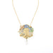 Macklowe Gallery Louis Zorra Plique-à-Jour Enamel and Freshwater Pearl Pendant Necklace