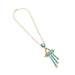 Macklowe Gallery Turquoise and Seed Pearl Gold Pendant Necklace