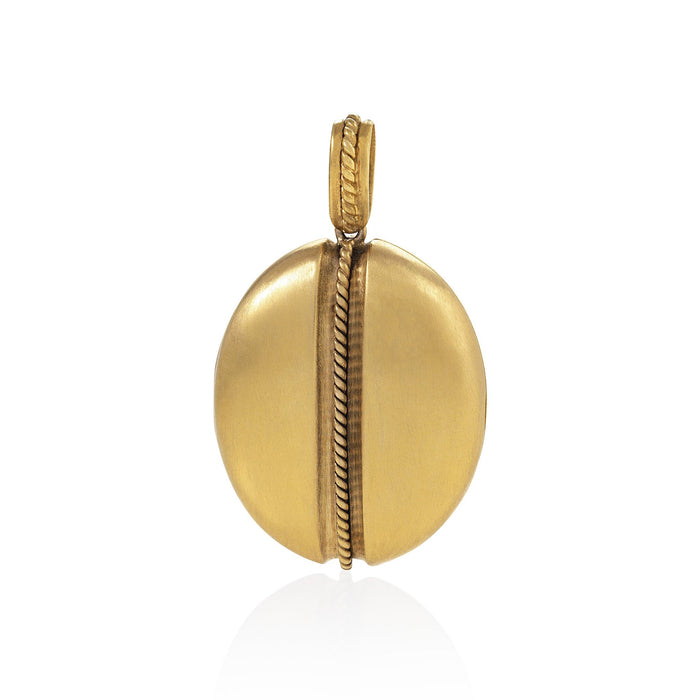 Macklowe Gallery Gold Twisted Wirework Locket Pendant