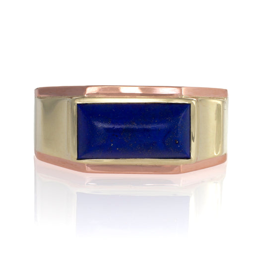 Macklowe Gallery J.R. Wood & Sons Lapis Cabochon Ring
