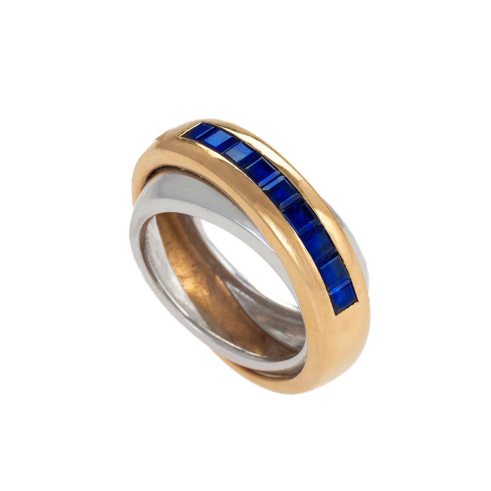 Cartier Sapphire Double Band Ring