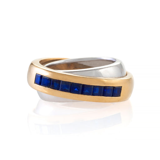 Macklowe Gallery Cartier Sapphire Double Band Ring