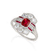 Macklowe Gallery Tiffany & Co. Untreated Burma Ruby Ring
