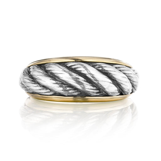 Macklowe Gallery Van Cleef & Arpels Bi-Color Gold Ring