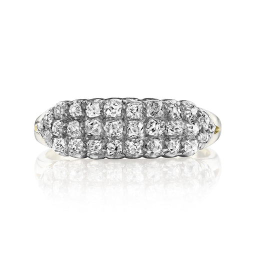 Macklowe Gallery Bead-Set Diamond Ring