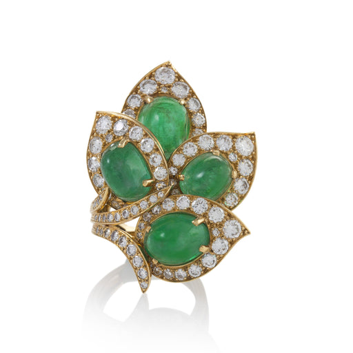 Macklowe Gallery Marchak Paris Emerald and Diamond Ring