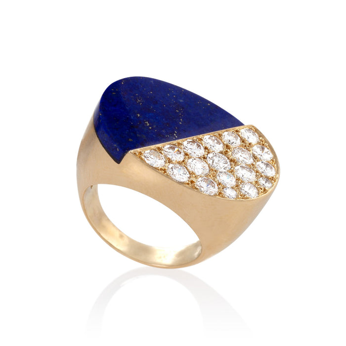 Macklowe Gallery Cartier Lapis Lazuli and Diamond Ring