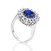 Macklowe Gallery Ceylon No-Heat Sapphire and Diamond Sunburst Ring