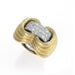 Macklowe Gallery David Webb Hammered Gold and Diamond Ring