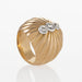 Macklowe Gallery Gold and Diamond Oversized Boule Ring