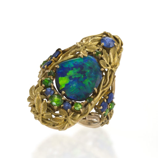 Macklowe Gallery Tiffany & Co. Black Opal Ring