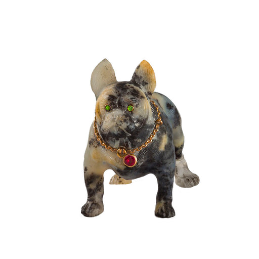 Macklowe Gallery Mottled Stone French Bulldog Miniature Sculpture