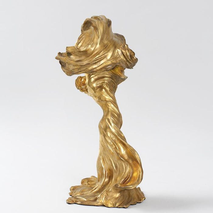 Macklowe Gallery François-Raoul Larche Lighted Gilt Bronze Sculpture of Loïe Fuller