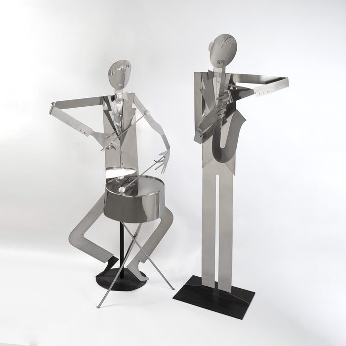Macklowe Gallery Franz Hagenauer Pair of Nickel-Plated Jazz Band Sculptures