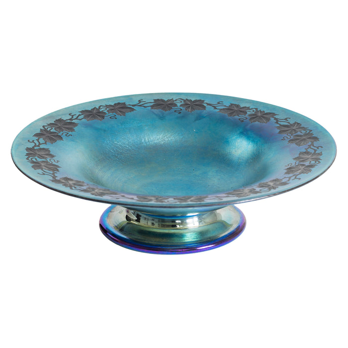 Macklowe Gallery Tiffany Studios New York Favrile Glass Compote Serving Bowl