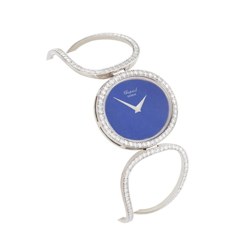 Macklowe Gallery Chopard Diamond and Lapis Lazuli Bracelet Watch