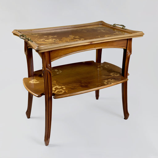 Macklowe Gallery Louis Majorelle Two-Tiered Fruitwood Marquetry Table