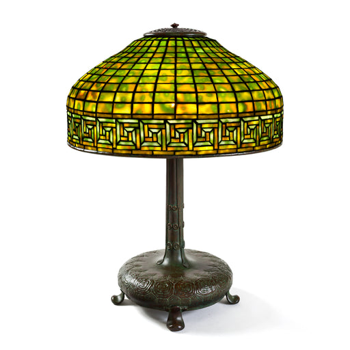 "Macklowe Gallery Tiffany Studios New York ""Greek Key"" Table Lamp"