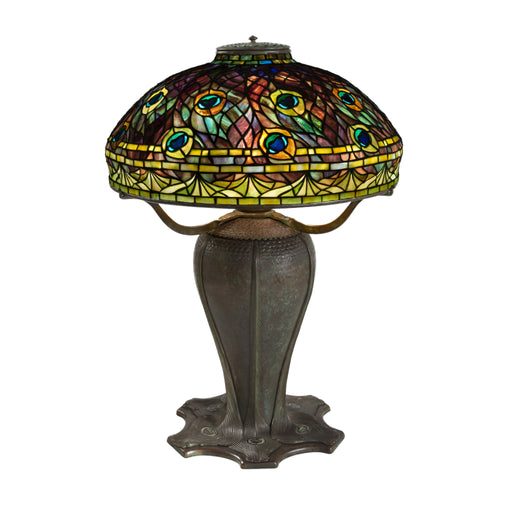 "Macklowe Gallery Tiffany Studios New York ""Peacock"" Table Lamp"
