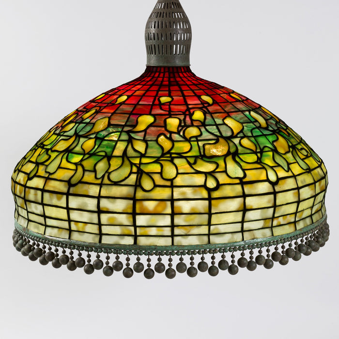 "Macklowe Gallery Tiffany Studios New York ""Swirling Leaf Geometric"" Chandelier"