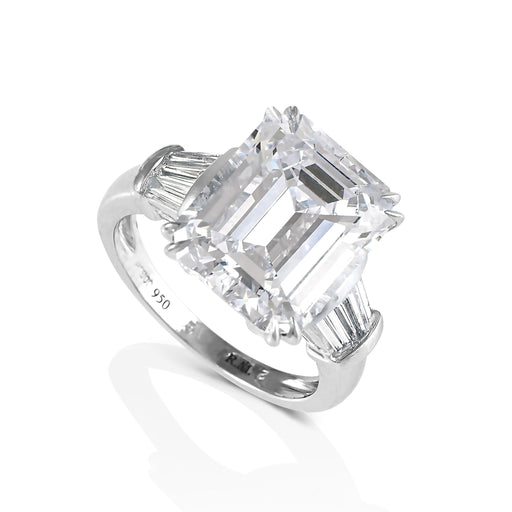 Macklowe Gallery Emerald-Cut Diamond Solitaire Ring