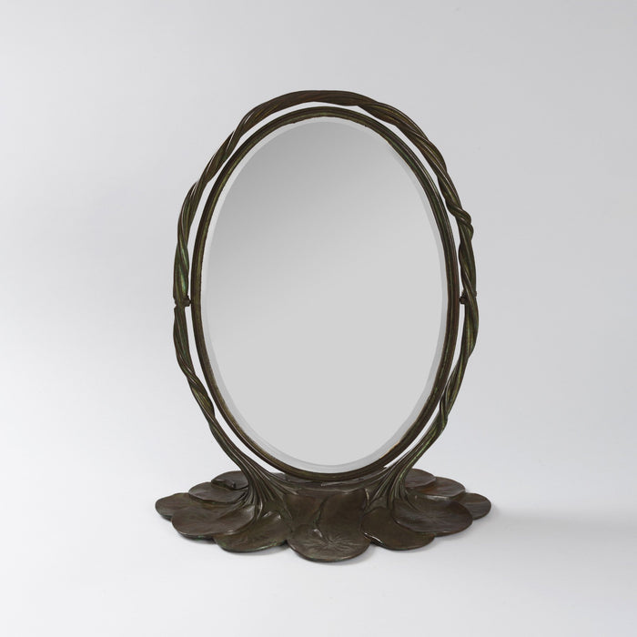 "Macklowe Gallery Tiffany Studios New York Bronze ""Lily Pad"" Mirror"