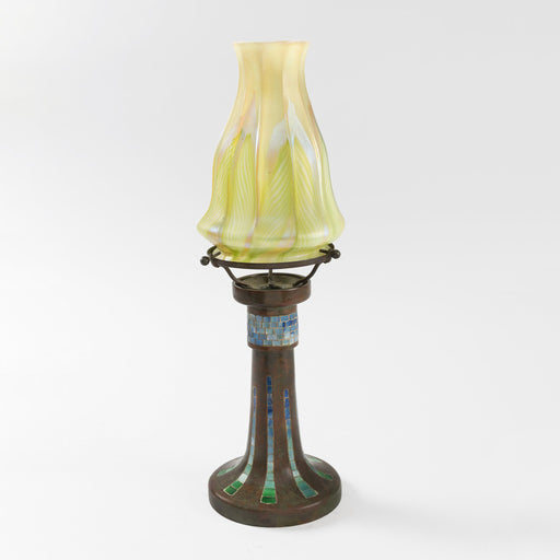 Macklowe Gallery Tiffany Studios New York Favrile Mosaic Candle Lamp