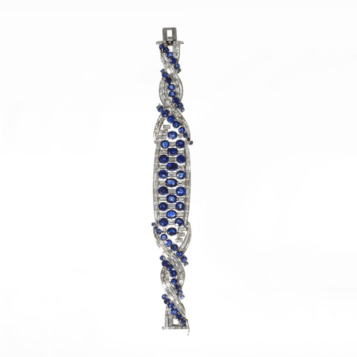 Macklowe Gallery Boucheron Paris Untreated Sapphire and Diamond Bracelet