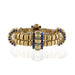 Macklowe Gallery Boucheron Paris Sapphire and Diamond Gold Link Bracelet