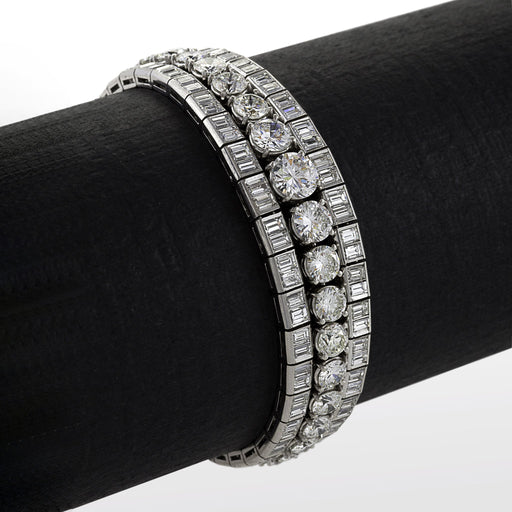 Macklowe Gallery Triple Diamond Line Bracelet