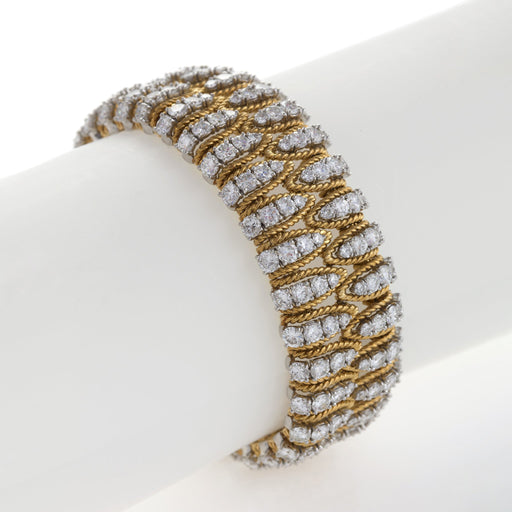 Macklowe Gallery Flexible Gold and Diamond Bracelet