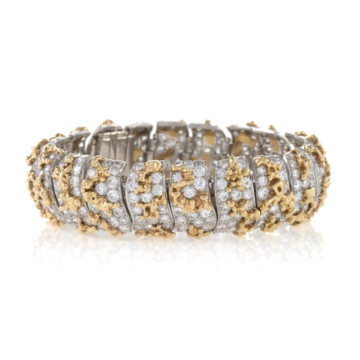 Macklowe Gallery William Ruser Gold and Diamond Bracelet