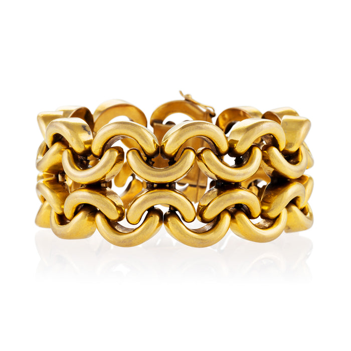 Open Gold Chain Link Bracelet