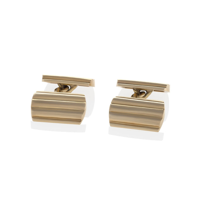 Macklowe Gallery Tiffany & Co. Ribbed Gold Cuff Links