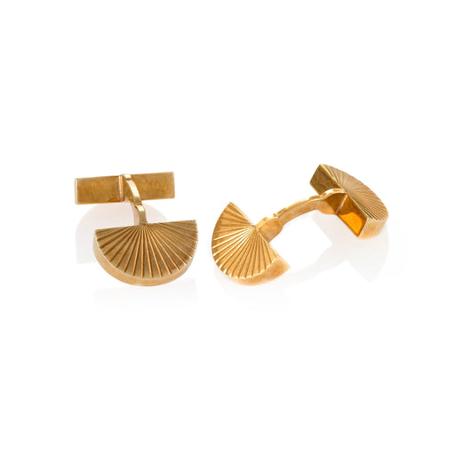 Macklowe Gallery Cartier Gold Fan Cuff Links