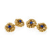 Macklowe Gallery Van Cleef & Arpels Sapphire and Gold Wreath Cuff Links