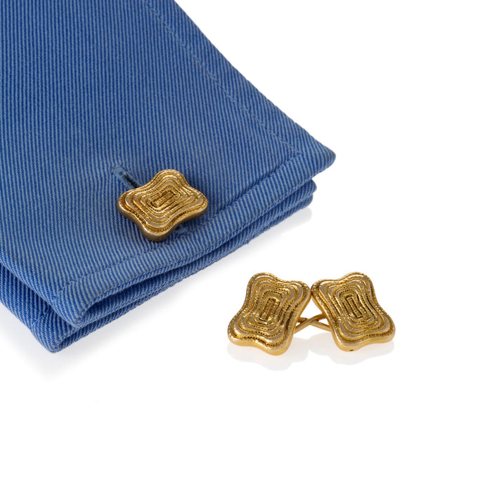 Macklowe Gallery Tiffany & Co. Engraved Gold Cuff Links