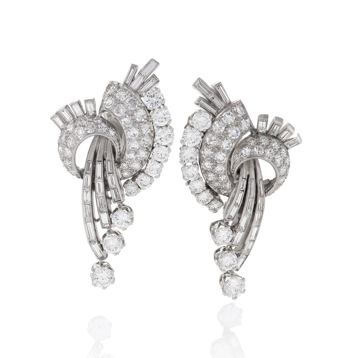 Macklowe Gallery Cascading Diamond Pendant Earrings