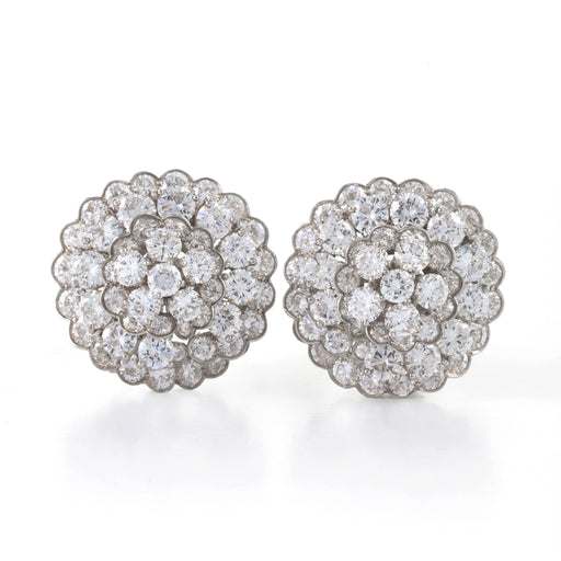 Macklowe Gallery Van Cleef & Arpels Blooming Diamond Cluster Stud Earrings