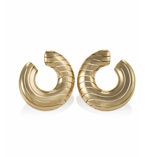 Macklowe Gallery Cartier Front-Facing Gold Hoop Earrings