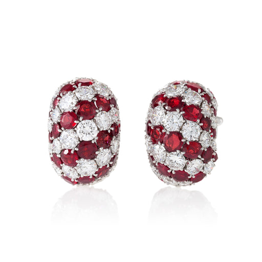 Macklowe Gallery Van Cleef & Arpels Ruby and Diamond Earrings