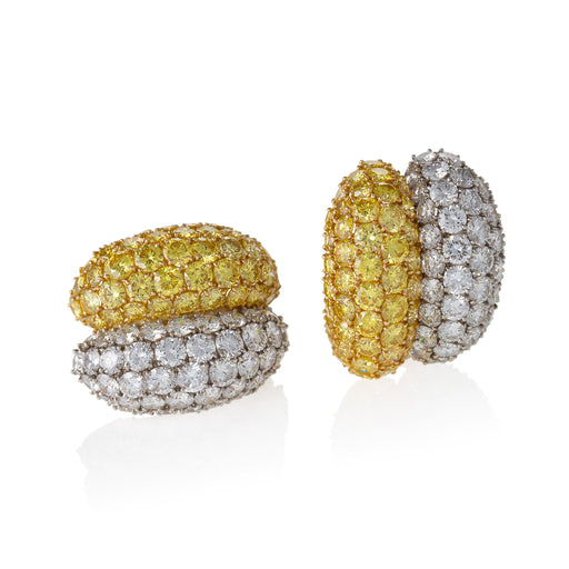 Macklowe Gallery Van Cleef & Arpels Natural Fancy Vivid Yellow Diamond Earrings