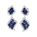 Macklowe Gallery Cartier Sapphire and Diamond Drop Earrings