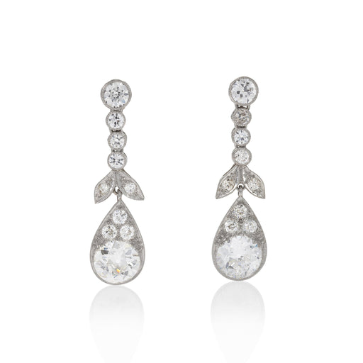 Macklowe Gallery Diamond Pendant Earrings