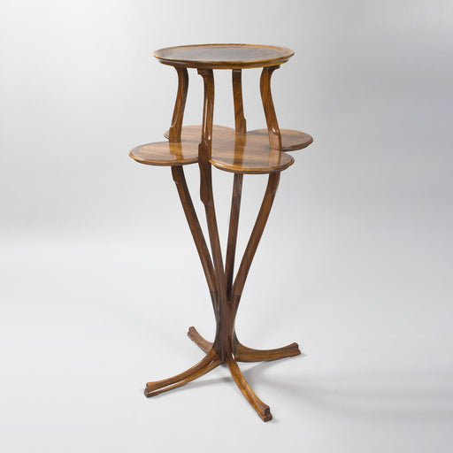 Macklowe Gallery Anthony Selmersheim Two-Tiered Fruitwood Pedestal