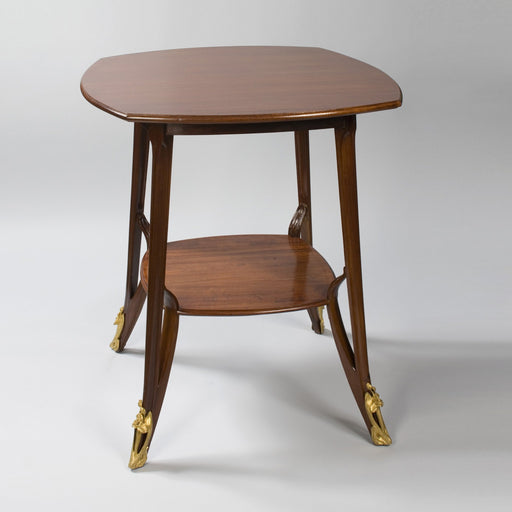 Macklowe Gallery Louis Majorelle Mahogany Two-Tiered Square Table