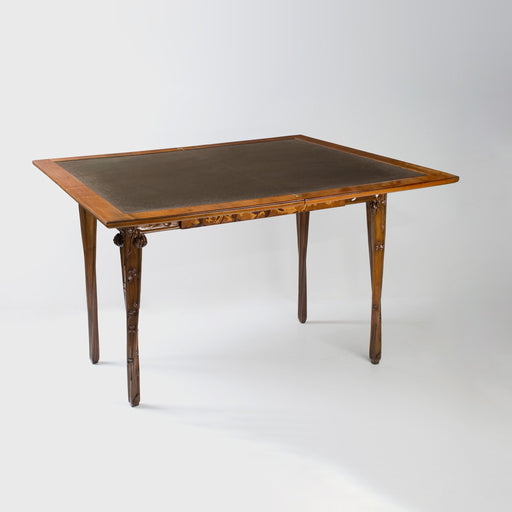 Macklowe Gallery Louis Majorelle Inlaid Marquetry Games Table