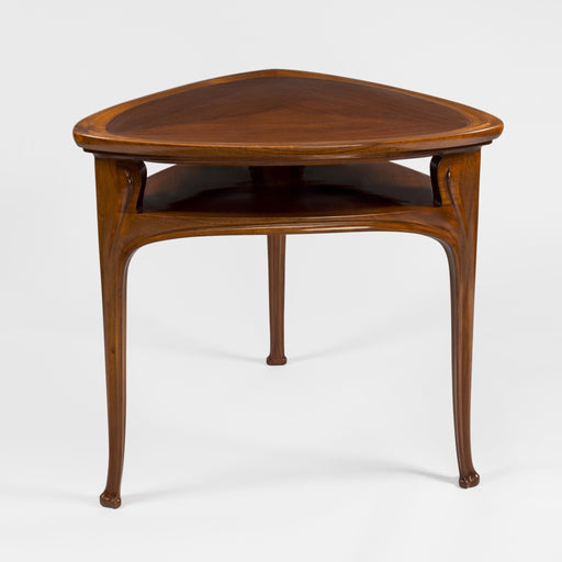 Macklowe Gallery Eugène Vallin (Attributed) Three-Legged Mahogany Table